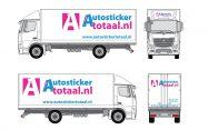 Goedkoop vrachtwagen reclame-inclusief montage