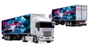 Luxe vrachtwagen stickers pakket l