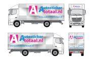 Luxe vrachtwagen stickers tekening