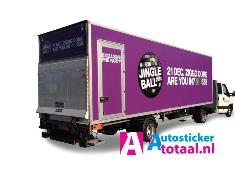 Radio 538 trailer B+E - AutoStickerTotaal Stickers en Reclame