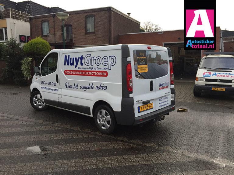 Opel vivaro Stickers Nuytgroep