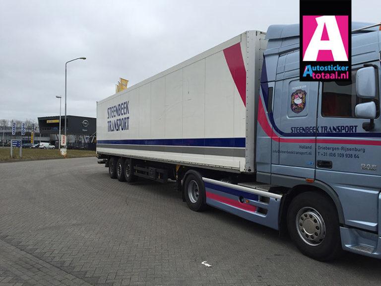 DAF FTXF105 Trekker met Oplegger Stickers – Steenbeek Transport