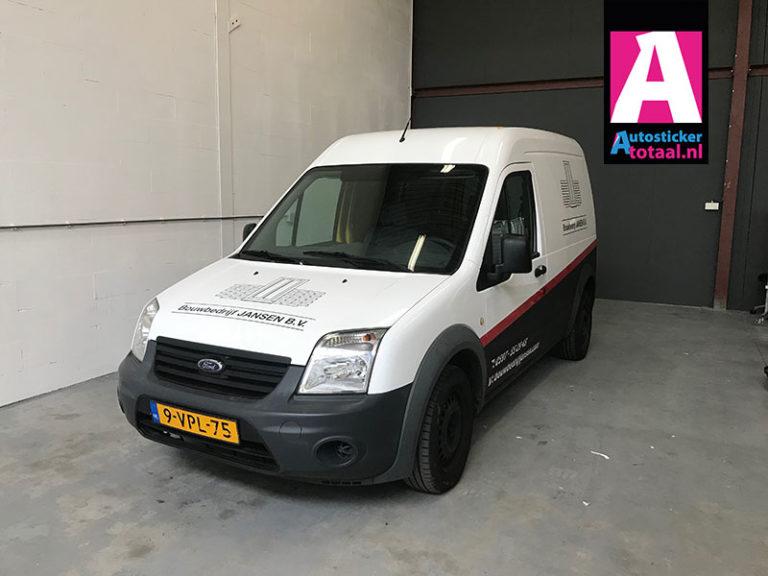 Ford Connect Carwrap en Stickers – Bouwbedrijf Jansen Oostwold