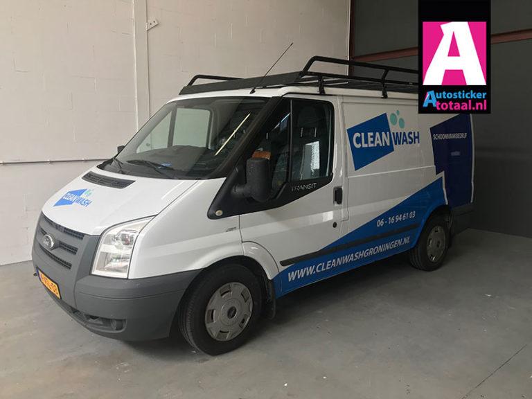 Ford Transit Stickers – Clean Wash Groningen