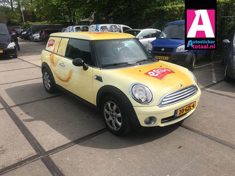 Mini Clubman Carwrap – ERU Kaasfabriek Woerden