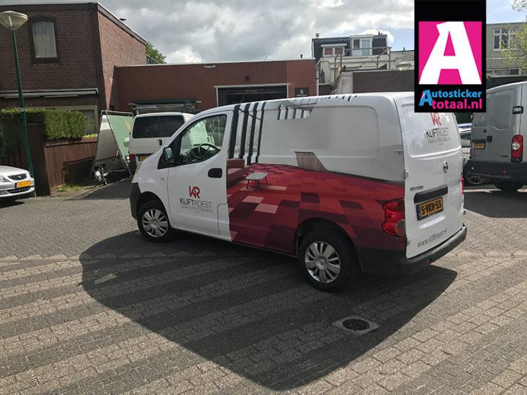 Nissan NV200 carwrap stickers – Klift Roest Driebergen