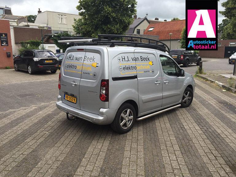 Peugeot Partner sticker – HJ van beek Austerlitz