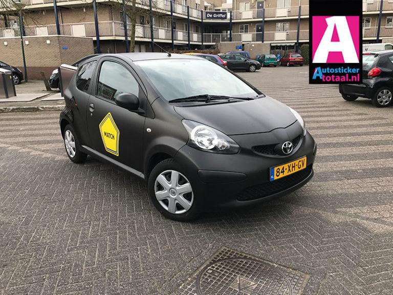 Toyota Aygo Carwrap en Stickers – Match Horeca uitzendbureau Amersfoort